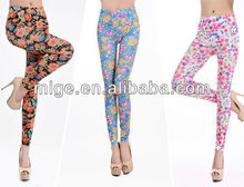 Ladies leggings sexy photo,flower cotton leggings AL2003
