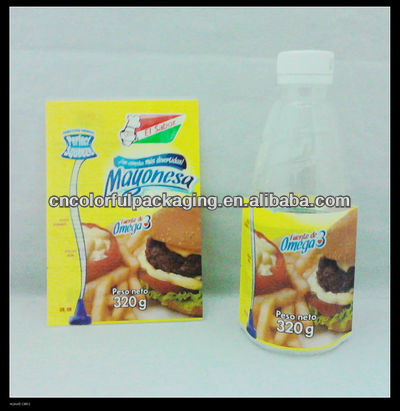 Shrinkwrapping sleeve for yoghurt bottle - 180g/FILM OF PVC