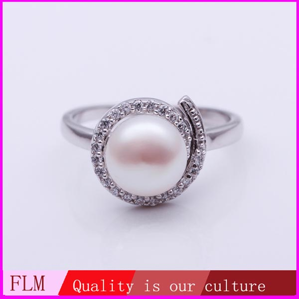 Fine design Fashion mix order pearl rings for women from China PLR005