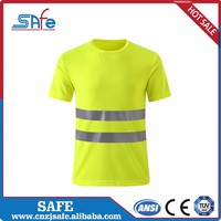 Road Safety branded high vis work T shirt with pocketss