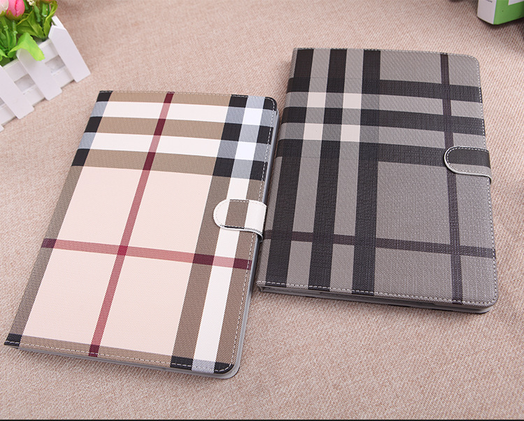 Classic lattice design pu leather protective case for ipadmini 2/3/4/