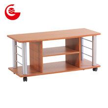 Multi layers living room furniture movable designs wooden led modern tv table cabinet