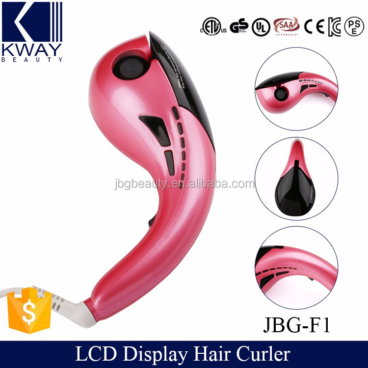 Flat irons wholesale hair curling machine automatic LCD display magic hair curler with CE certification