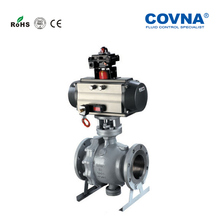 Pneumatic Fixed Type Ball Valve Chemical Resistant Automatic Trunnion Mounted Ball Valve
