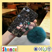 Bunny fur ball glitter diamond case for iPhone 7