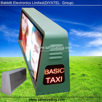 HIGH resolution led display screen/100% Response Rate/Babbitt Diyatel, Model No. P5 Taxi Top LED Sign (view size 960*320mm)