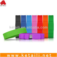 Hot selling silicone bracelet usb flash drive, silicone usb bracelet with custom logo