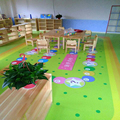 kindergarten cartoon customized anti slip PVC flooring