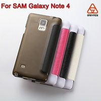 China Factory Hot sale mobile phone leather case for samsung galaxy note 4,for sansung galaxy mobile phone flip case