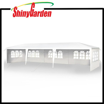 Outdoor Garden 10*30FT Patio Easy Pop Up Canopy Party Tent with 4 Removable Sidewalls or unremovable sidewalls
