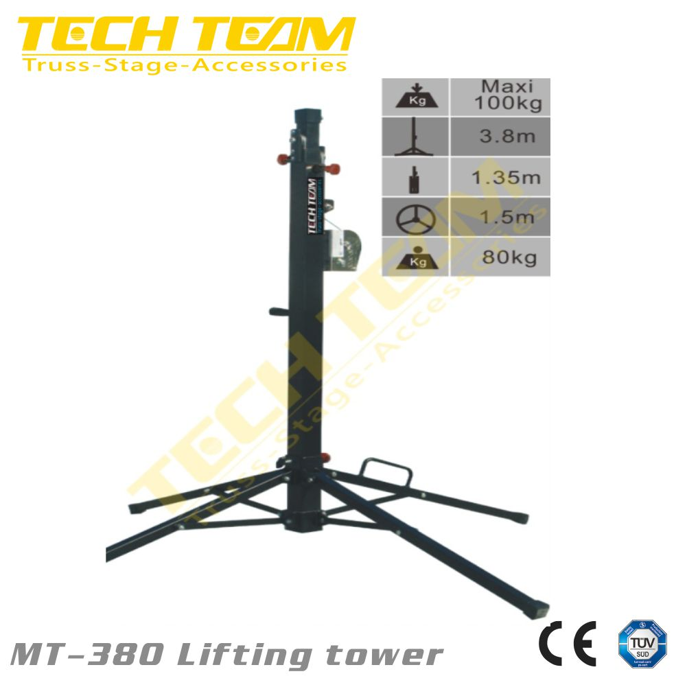 MT-380 tower , elevator 3.8m, load max.100kg /iron Lifting tower