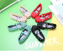 summer baby sandals cheap pvc crystal kids fancy girl baby jelly shoes