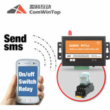 Wireless Sms Gsm 3G Sim Card Remote Control 12V 24V Dc Power Switch Relay