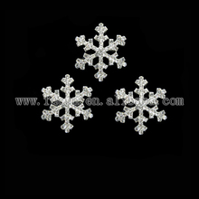 30mm small clear rhinestone snowflake buckles