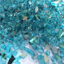 1/4 inch blue color reflective tempered broken glass