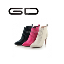 Simple design and best quality pure color high heel ankle boots for women