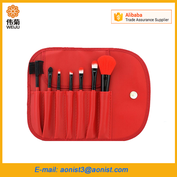 Hot sell Custom logo Girls Roll Up Cosmetic makeup brush bag