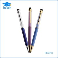2 in 1 touch screen crystal bling stylus pen for iphone/ipad/samsung