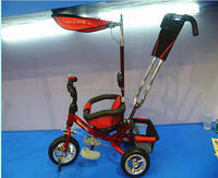 2016 new model baby tricycle ,children tricycle with push bar and canopy