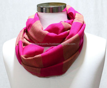 fashion loop acrylic scarves infinity scarves