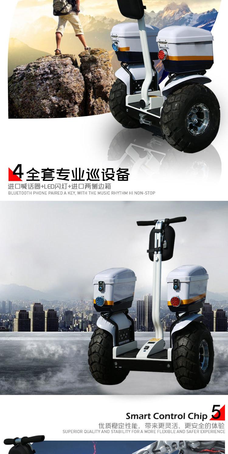Adulte Transporteur Personnel Freegoing Deux Roues Intelligente Auto Équilibrage Decathlon Police Scooter Électrique