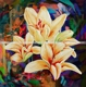 Wall Art Decoration Canvas Mpdern large Lilies Flower Oil Paintings