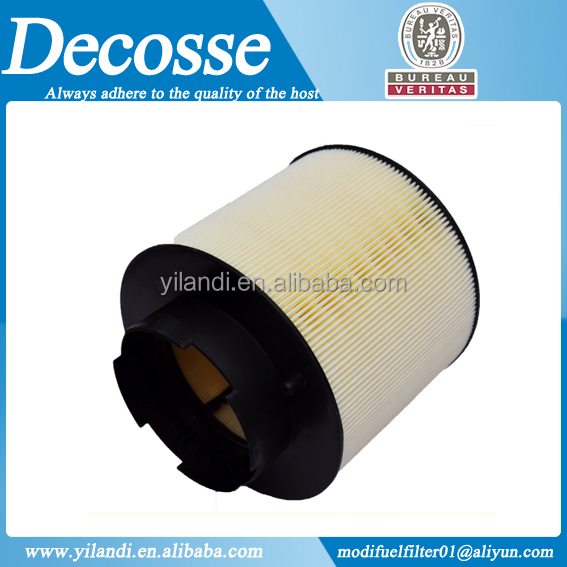 Air filter with injected plastics for auto cars type 4F0 -133- 843