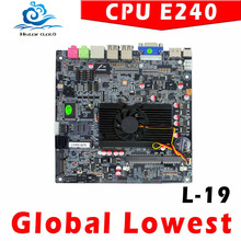 Promotional price!!! atom e240 Industrial Motherboard, computer motherboard, fan mini itx motherboard best quality