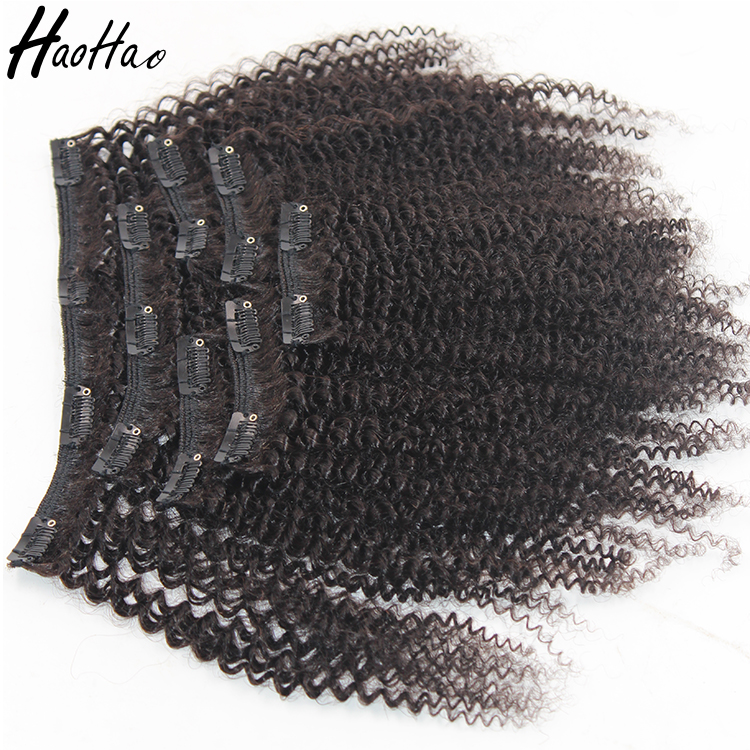 New Arrival Youtube Sex Afro Kinky Curly Hair Clip In Hair Extensions