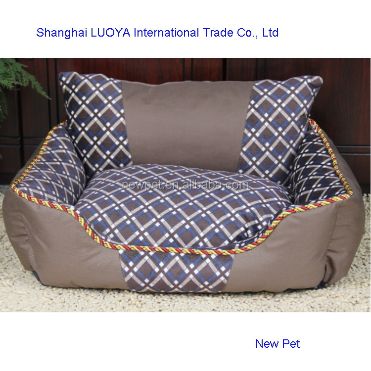 Popular products low price monoclinic lattice bed simple style dog house with back
