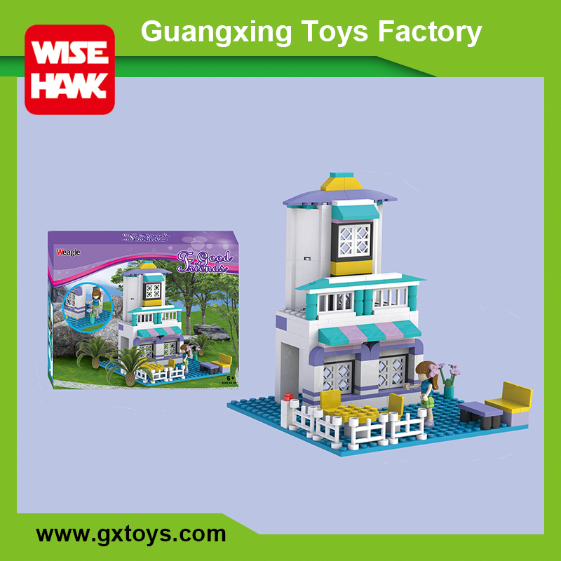 New kids educational building blocks plastic mini toy doll house furniture