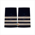 Silver Epaulettes for The Pilots Uniform | French Silver Braid Epaulet on Navy | Flight Officer Board Epaulettes 3 Bar Silver