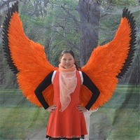 Orange color party decorative angel wings