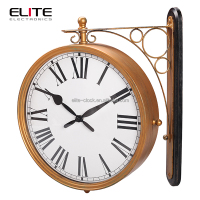 railway station antique double sided wall clocks