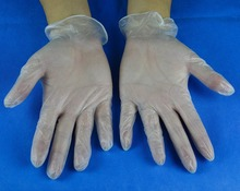 Disposable Powder-free Non-sterile Transparent Vinyl PVC Examination Gloves