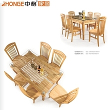 natural oak dining room furniture, simple and long dining table C5103#