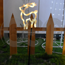 2018 led lighting garden light with stake for christams decorating,deer garden light,solar garden light stake