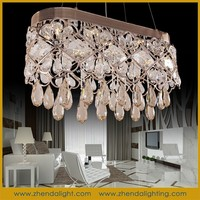 hotel and home retro flower clear k9 drop crystal ceiling pendant light
