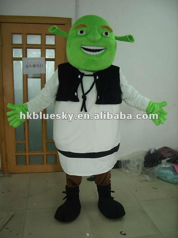 2013 Shrek cartoon mascot costumes for kids party