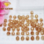 Factory price loose beads champagne ball cz beads for bracelet