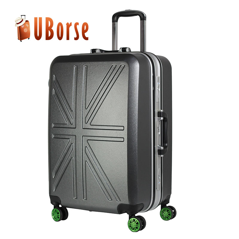 Hot selling abs/pc travel luggage bag uborse luggage cabin size printed hard shell luggage factory price in stock