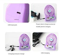 Hot! Best gift emergency Portable electrical mini table fan motor nippo rechargeable table fan mini fan motor