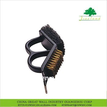 PLASTIC HANDLE 3 IN 1 BBQ GRILL BRUSH