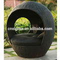 2017 SIGMA outdoor furniture apple shape outdoor used rattan Sun Lounger
