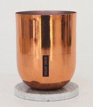 Wholesale Rose Gold Metal Candle Jar with Marble Lids Aroma Scented Candle