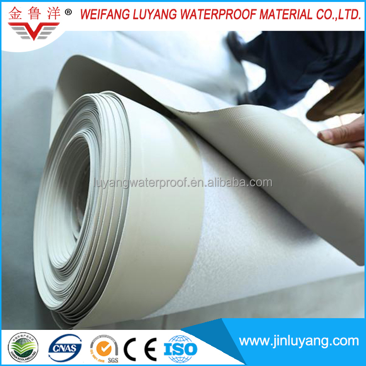 white PVC roofing membrane for flat roof
