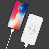 2018 hot selling wireless power bank charger 10000mah qi wireless charger power bank for iphone X 8 8plus