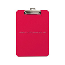 Professional manufacturer plastic clip board (with printing)