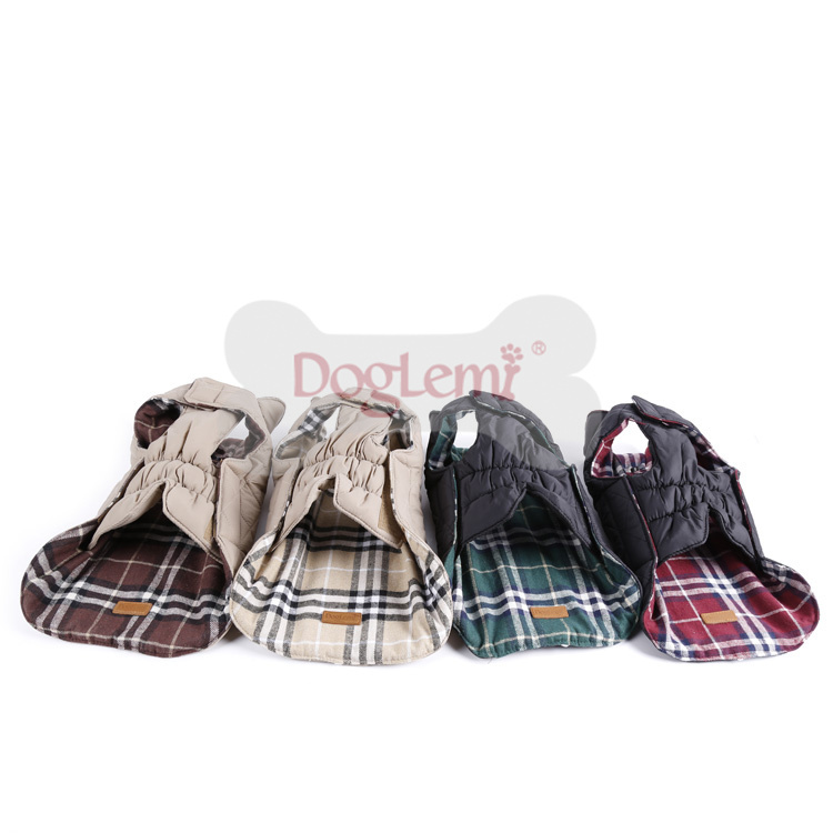 2015 New Arrival Wholesale Dog Clothes Reversible Winter Dog Jacket Dog Clothes Cheap