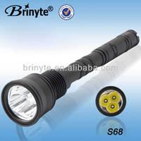 S68 XML 3*U2 Portable Aluminum 9V Battery Flashlight